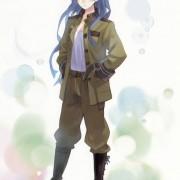 二次 軍服美少女