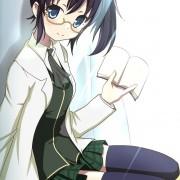 二次 制服メガネの女の子