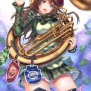 二次 楽器持ってる美少女