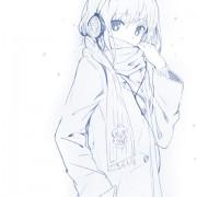 ヘッドフォンつけてる女の子