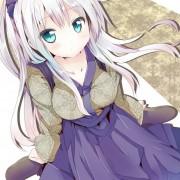 二次 和服の美少女