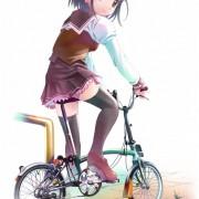 自転車乗ってる女の子