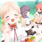 二次 女の子の食事