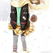 冬景色の女の子