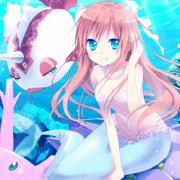 二次 水中の女の子